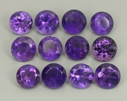 5.95 CTS AWESOME NATURAL ROUND PURPLE~VIOLET AMETHIYST GEM!!