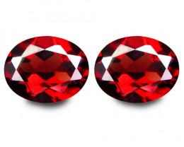 6.98Cts Genuine Natural Unheated Almandaine  Garnet Oval Shape Loose Gems P