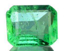 Natural Vivid Green Emerald Octagon Cut Colombia 0.27 Cts