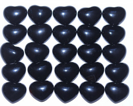 25 pcs Black Agate Lovers Hearts s code AHA 399
