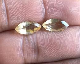 Citrine Gemstone Pair 100% Natural Gemstone VA5851