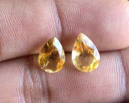 Lemon Quartz Pair 100% Natural+Untreated Gemstones VA5876