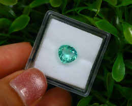 1.22Ct Colombian Muzo Emerald Neon Mint Green Beryl EM144