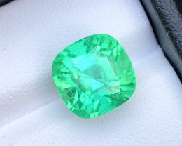 Beautiful Splendid Heart Catching Color8.45 Ct Lagoon Green Tourmaline