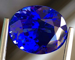 6.07ct Vivid Blue Tanzanite With Excellent Luster And Fine Cutting  Gemston