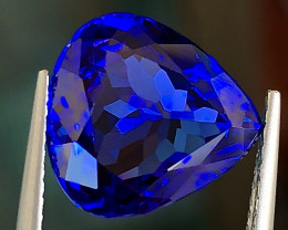 4.88 ct  Vivid Blue Tanzanite With Excellent Luster And Fine Cutting  Gemst