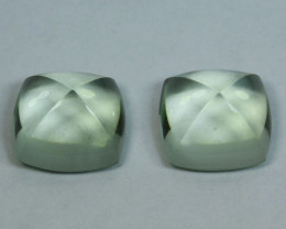 9.92 Cts NATURAL GREEN AMETHYST SUGAR LOAF PAIR GEM