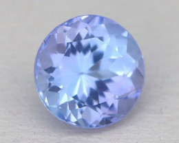 Tanzanite 1.07Ct VS Round Cut Natural Purplish Blue Tanzanite A2337