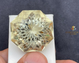 Citrine Flower Cut