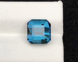 Majestic Color 2.80 ct Natural Afghan Lagoon Blue Tourmaline