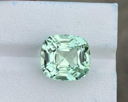 12.940 CTS Asscher Top Green Mint Tourmaline Gem