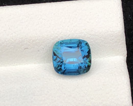 Majestic Color 1.40 ct Natural Afghan Lagoon Blue Tourmaline