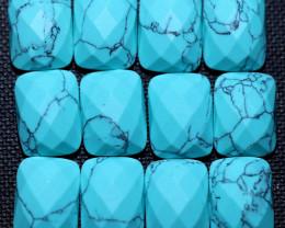Parcel 12 faceted  Howlite  Gemstones  AHA 43