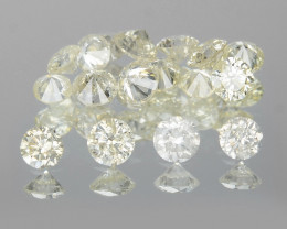 *NoReserve*Diamonds 0.53 Cts 17 Pcs Untreated White Color Natural
