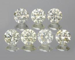 Diamond 1.23 Cts 7 Pcs Untreated Sparkling Yellowish Green Natural