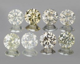 *No Reserve* Diamond 0.55 Cts 4pcs Untreated Sparkling Yellowish Green Natu