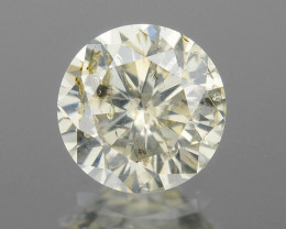 Diamond 0.26 Cts Untreated Fancy White (Light Yellow) Color Natural