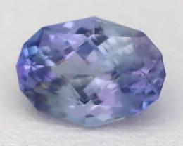 1.21Ct VVS Master Oval Cut Natural Purplish Blue Tanzanite B2414