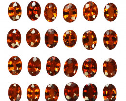 4.95 Cts Natural Spessartite Garnet 4x3mm Oval 24Pcs Namibia