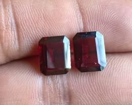 Natural Almandine Garnet Gemstone Pair VA5902