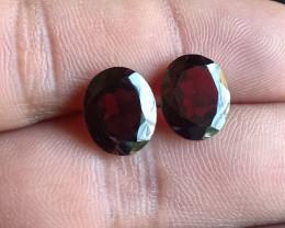 Natural Almandine Garnet Gemstone Pair VA5905