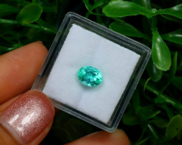 0.96Ct Colombian Muzo Emerald Neon Mint Green Beryl C2513