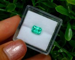 0.89Ct Colombian Muzo Emerald Neon Mint Green Beryl C2514