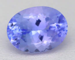 1.87Ct VVS Oval Cut Natural Purplish Blue Tanzanite C2515