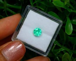 0.58Ct Colombian Muzo Emerald Neon Mint Green Beryl C2521