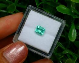 0.67Ct Colombian Muzo Emerald Neon Mint Green Beryl C2522