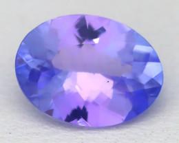 1.45Ct VVS Oval Cut Natural Purplish Blue Tanzanite C2525
