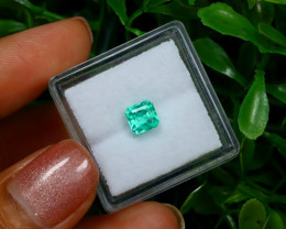 0.73Ct Colombian Muzo Emerald Neon Mint Green Beryl C2527