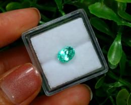 0.91Ct Colombian Muzo Emerald Neon Mint Green Beryl C2528