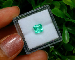 0.92Ct Colombian Muzo Emerald Neon Mint Green Beryl C2506
