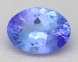 1.55Ct VVS Oval Cut Natural Purplish Blue Tanzanite C2507