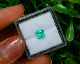0.64Ct Colombian Muzo Emerald Neon Mint Green Beryl C2510