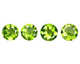 *NoReserve* Peridot  3.24 cts 4 pcs Sparkling Green Color Natural Gemstone