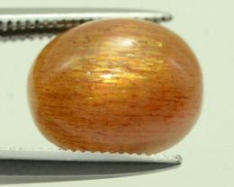 Rare 2.75 ct Needle Sunstone Cabochon Oregon Mine