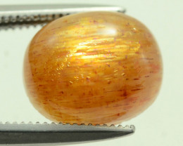 Rare 3.15 ct Needle Sunstone Cabochon Oregon Mine