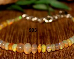 23 Crt Natural Ethiopian Welo Opal Bracelet 593