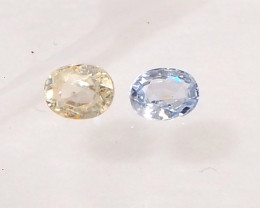 1.16ct Unheated Light Yellow and Blue sapphire