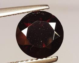 3.02 ct Top Grade Gem Round Cut Natural  Rhodolite Garnet