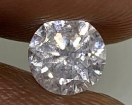 (1)  $651 Fiery 0.40cts SI2 Nat  White Round Loose Diamond