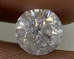 (8) $4416 Gorgeous 1.14cts SI3 Nat White Round Loose Diamond