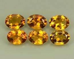 7.30- Cts Ravishing Natural Citrine oval  Gemstone 6 pcs parcel
