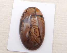 141.5cts US biggs picture jasper oval cabochon, gemstone cabochon h2020