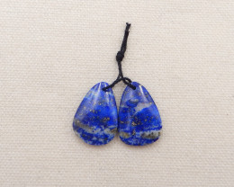 29.5cts a pair of blue lapis lazuli,lapis lazuli pendant pair,gemstone pend