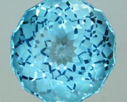 ~CUSTOM CUT~ 7.05 Cts Natural Blue Topaz Stunning Fancy Round USA