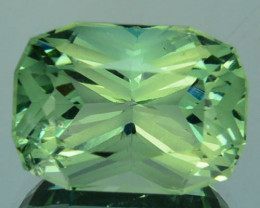 ~CUSTOM CUT~ 6.46 Cts Natural Green Prasiolite/Amethyst Cushion Fancy Brazi