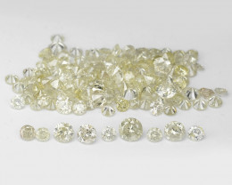 *No Reserve* Diamond 4.37 Cts lot Untreated Fancy Light Yellow Color Natura